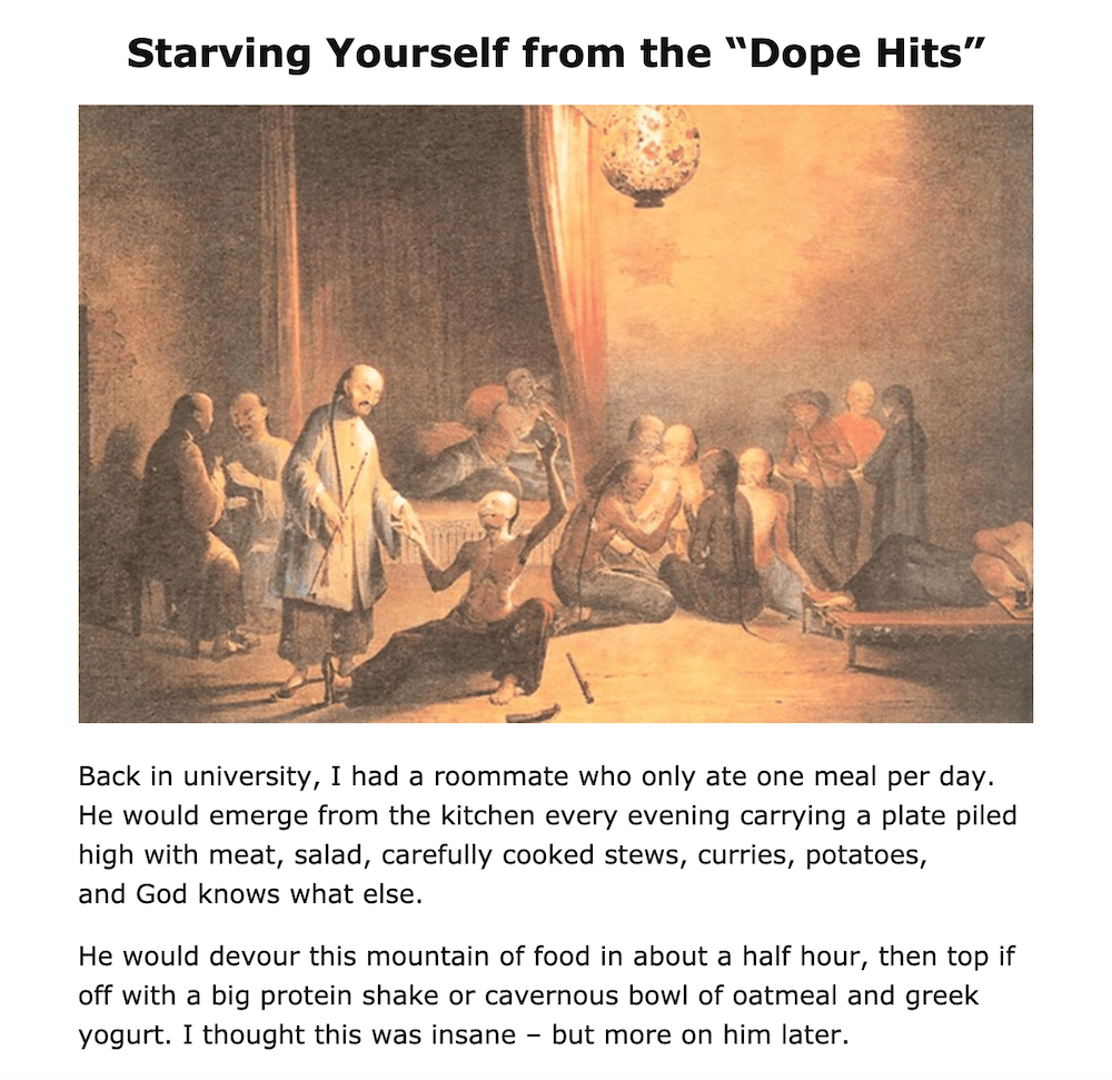 "Starving Yourself from the ""Dope Hits"""