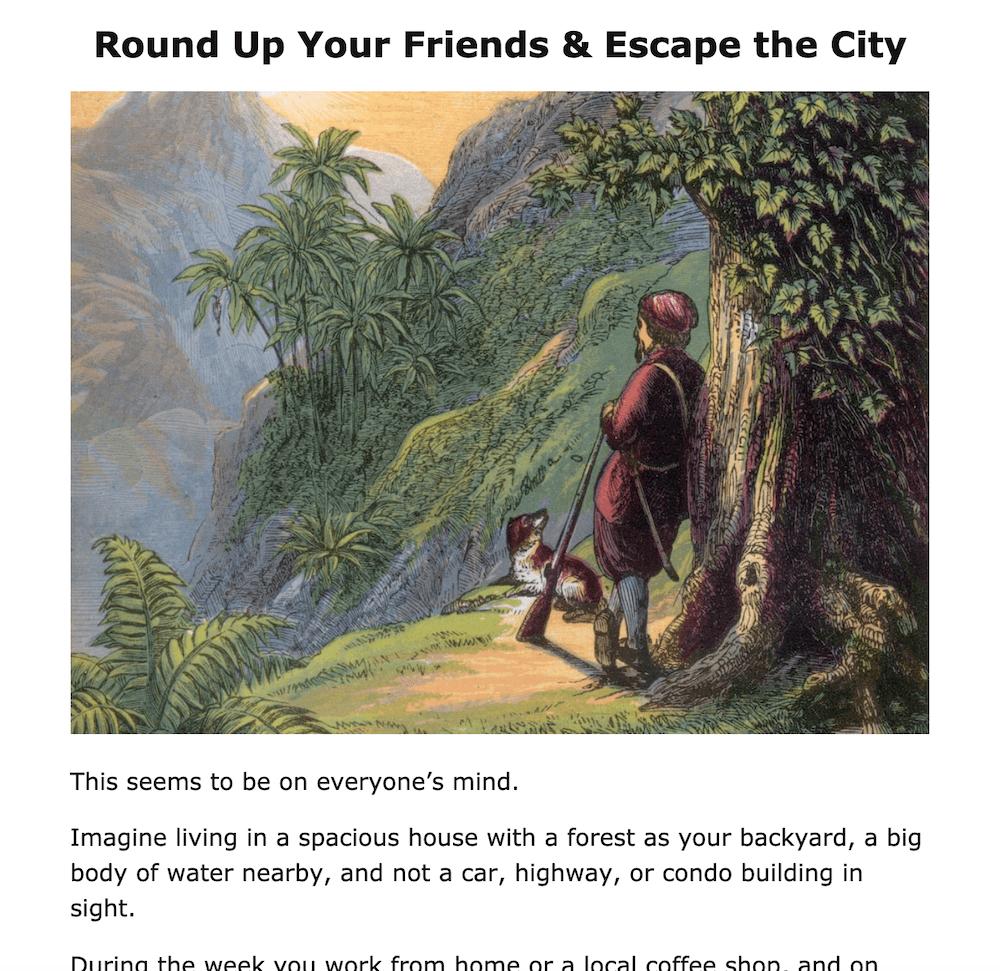Round Up Your Friends & Escape the City