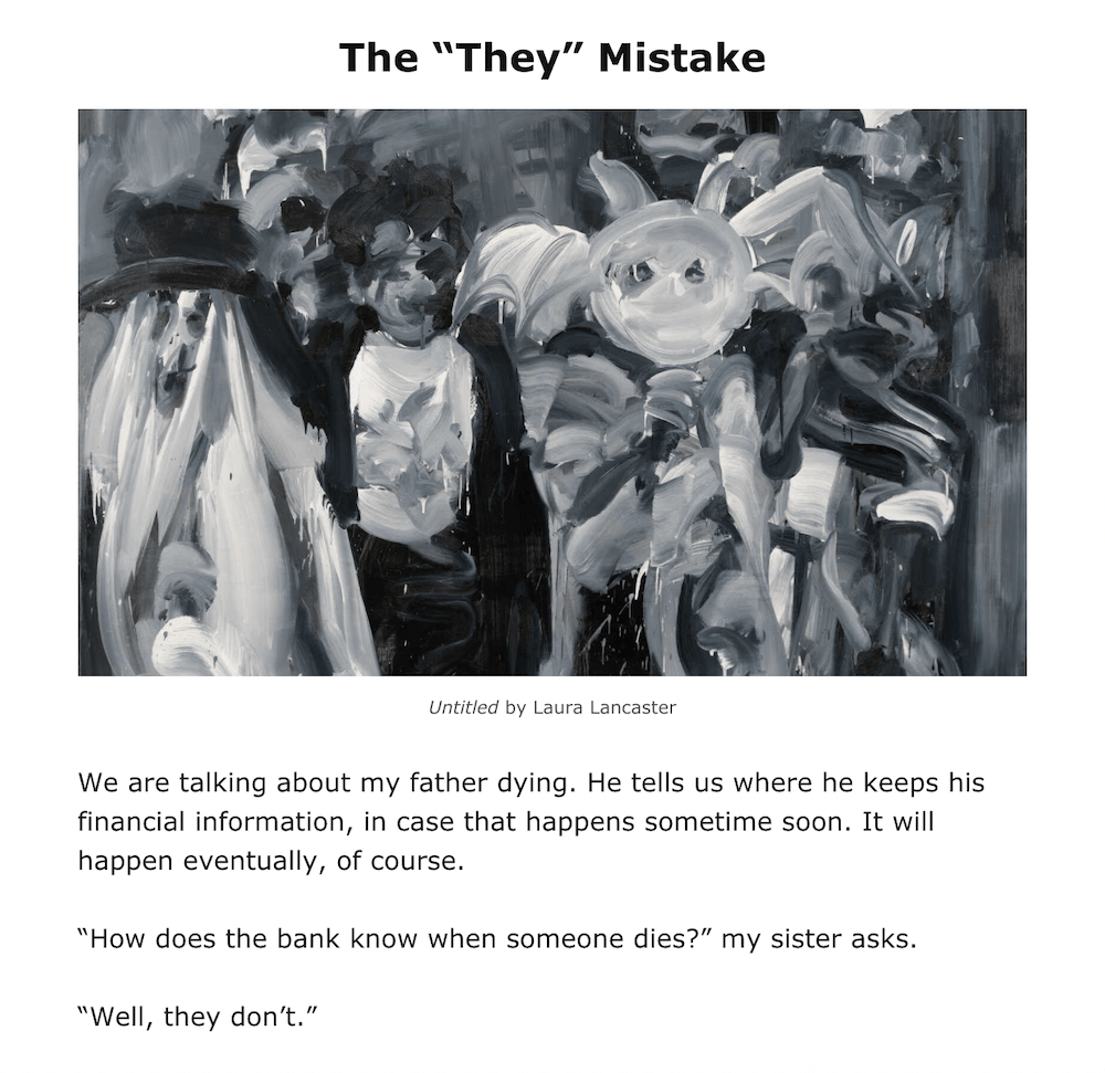 """Good Thought 10 The """"They"""" Mistake"""